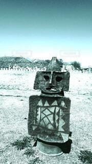 復元古墳の埴輪の写真・画像素材[4466919]