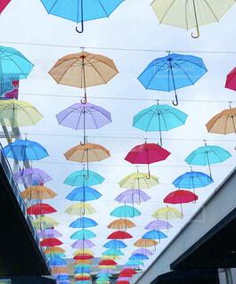 カラフルな傘の写真・画像素材[4533238]
