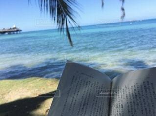 ビーチで読書の写真・画像素材[4921114]