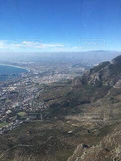 自然,空,屋外,雲,山,丘,空中,眺め,南アフリカ,テーブルマウンテン,ケープタウン,山腹