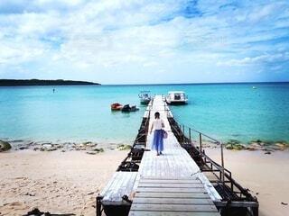 海,空,夏,屋外,ビーチ,ボート,船,水面,休暇