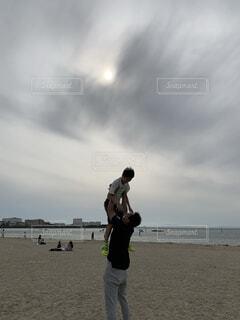 男性,自然,空,屋外,ビーチ,雲,飛ぶ,人物,人