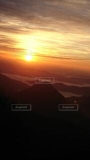 自然,空,太陽,雲,山,雲海,日の出