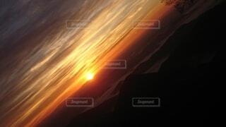 自然,空,太陽,雲,雲海,日の出