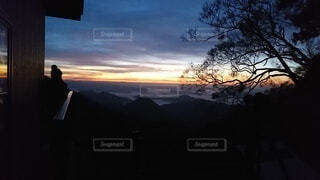 自然,風景,空,屋外,雲,山,樹木,雲海,日の出