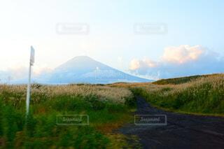 自然,風景,空,屋外,草原,雲,山,草,新緑,高原,山腹