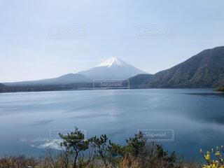 自然,風景,空,富士山,屋外,湖,雲,水面,山,景色,本栖湖,日中