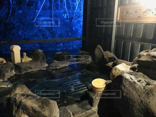 温泉,樹木,岩,石,貸切露天風呂