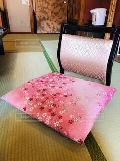 春,桜,ピンク,座布団,座椅子