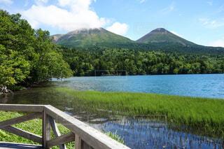 自然,風景,空,夏,屋外,湖,山,阿寒湖,Lake