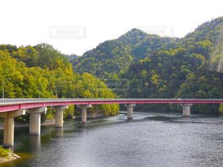 空,橋,屋外,湖,川,水面,樹木,札幌,草木,定山渓,さっぽろ湖,札幌市南区
