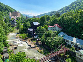 初夏の定山渓温泉の写真・画像素材[4527431]