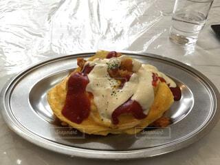 食べ物,パンケーキ,テーブル,皿,洋食,料理,石川県,金沢,エビフライ,オムライス,菓子,ボルガライス