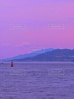 淡路島と夕焼けの写真・画像素材[4623515]