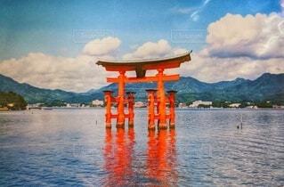 真夏の宮島の写真・画像素材[4686032]