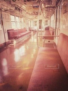 山陽電車 車内の写真・画像素材[4774316]