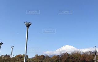 空,富士山,雪,屋外,山