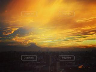 夕日,富士山,東京,夕焼け