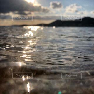 自然,海,屋外,湖,ビーチ,水面,夕方,反射,鏡