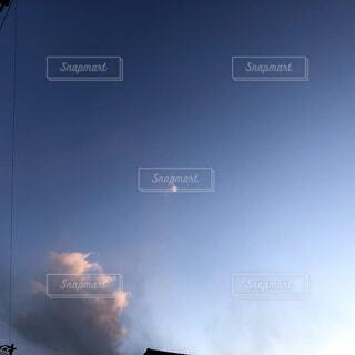 空,屋外,雲,飛行機,夕方,くもり