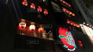 夜,屋外,光,提灯,ライトアップ,居酒屋,福岡県