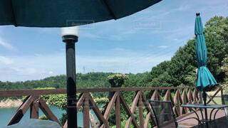 夏のテラスで日光浴の写真・画像素材[4433798]