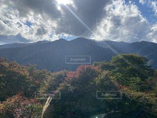 自然,風景,空,秋,屋外,雲,山,樹木,バック グラウンド