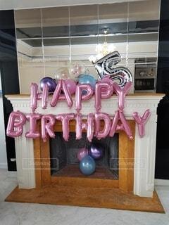 屋内,5歳,お誕生日