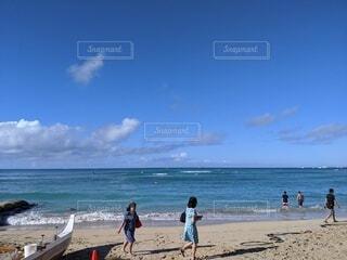 自然,空,屋外,ビーチ,雲,水面,海岸,人物,ハワイ,ワイキキビーチ