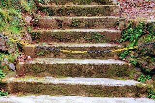 階段,石階段,チェーン,ストップ,行き止まり,ここから先