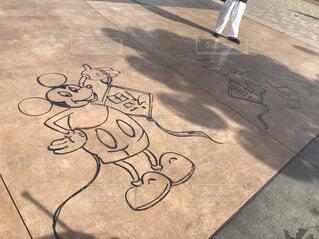 屋外,アート,床,地面,上海,ディズニー,手書き,落書き,ミッキーマウス,図面,上海ディズニーランド,子供の芸術