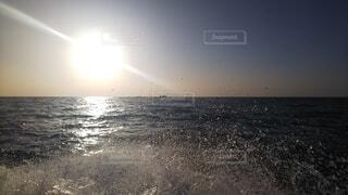 自然,海,空,水面