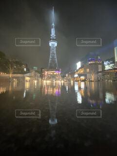水面反射の写真・画像素材[4392162]