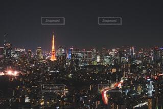 夜の東京タワーの写真・画像素材[4412049]