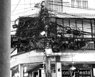 タイの電線の写真・画像素材[4412053]