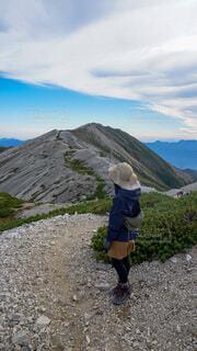 登山の写真・画像素材[4805453]