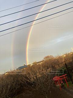 二重の虹の写真・画像素材[4401038]