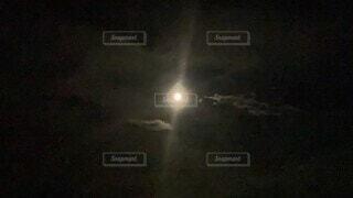 屋外,霧,月,満月,バックムーン