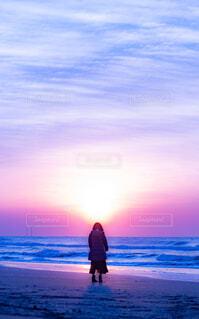 朝日に染まるの写真・画像素材[4435630]