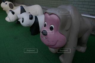 デパートの屋上のレトロな動物たちの写真・画像素材[4632785]