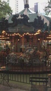 公園,乗り物,ニューヨーク,屋外,都会,メリーゴーランド,NY,アトラクション,遊び場,木馬,カルーセル,木猫