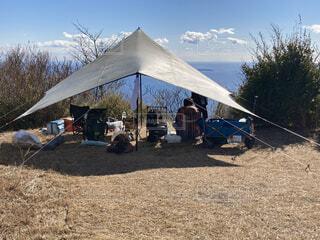 絶景の野営キャンプ!の写真・画像素材[4416969]