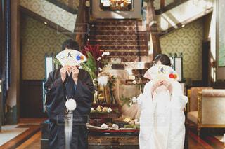結婚式前撮りの写真・画像素材[4431612]
