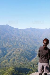 屋久島トレッキング  太鼓岩からの眺めの写真・画像素材[4486793]