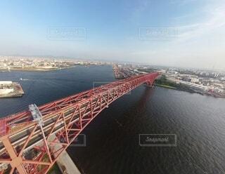 空,橋,屋外,船,水面,旅行,空撮,フォトジェニック