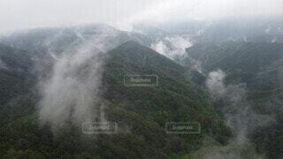 自然,風景,空,屋外,雲,霧,山,雲海,空撮