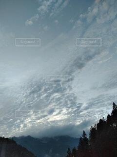 自然,空,屋外,雲,山道,朝焼け,空撮,フォトジェニック