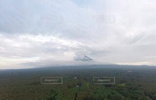 自然,空,富士山,屋外,雲,山,景色,草,空撮,フォトジェニック
