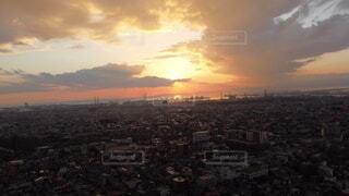 自然,空,建物,屋外,太陽,雲,夕暮れ,タワー,都会,高層ビル,日の出,空撮,スカイライン,フォトジェニック