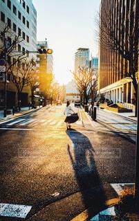 街に入るヒカリの写真・画像素材[4432732]
